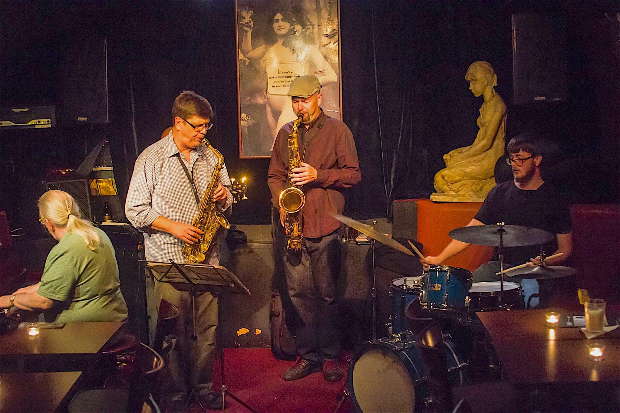 Neil Wetzel playing at a jazz club