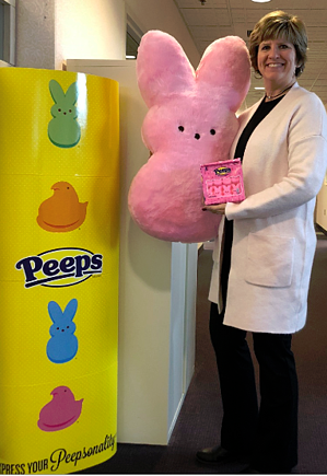 Judy with Peeps