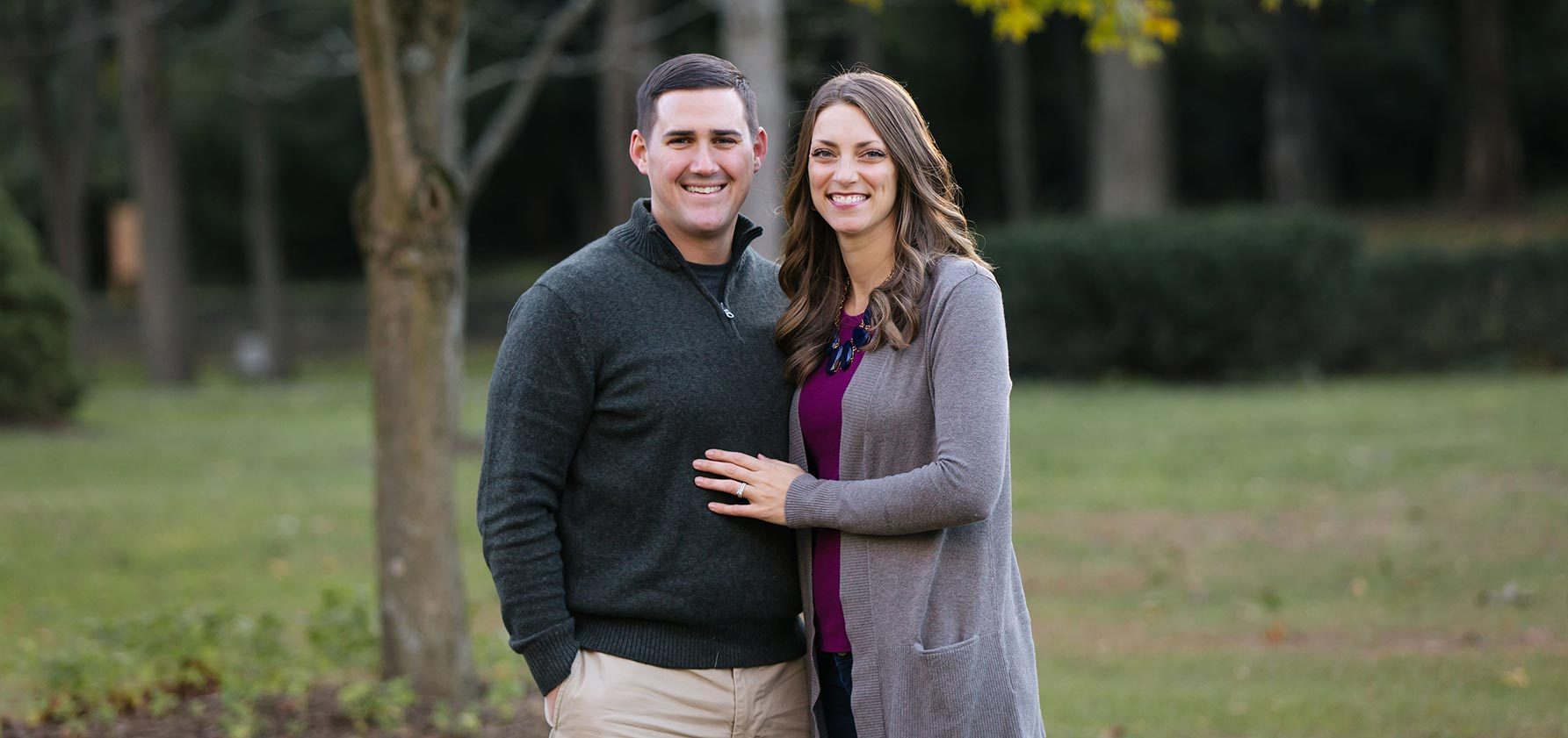 Marc and Maria DeBonis Braxmeier '09 enjoy the outdoors together.