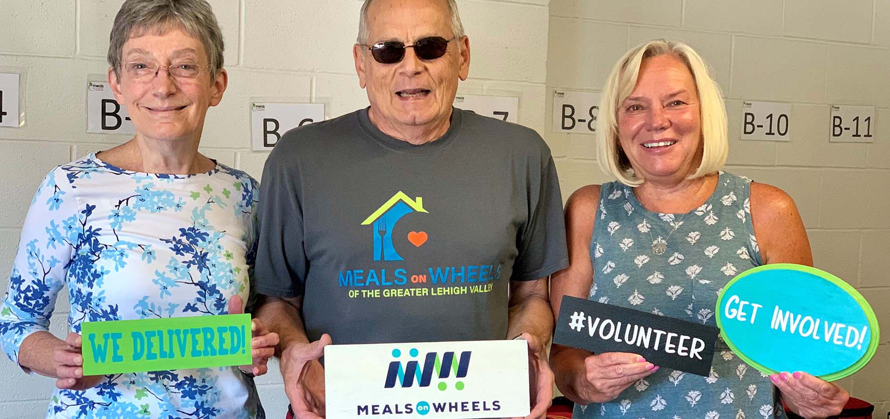 Three volunteers from Meals on Wheels of the Greater Lehigh Valley
