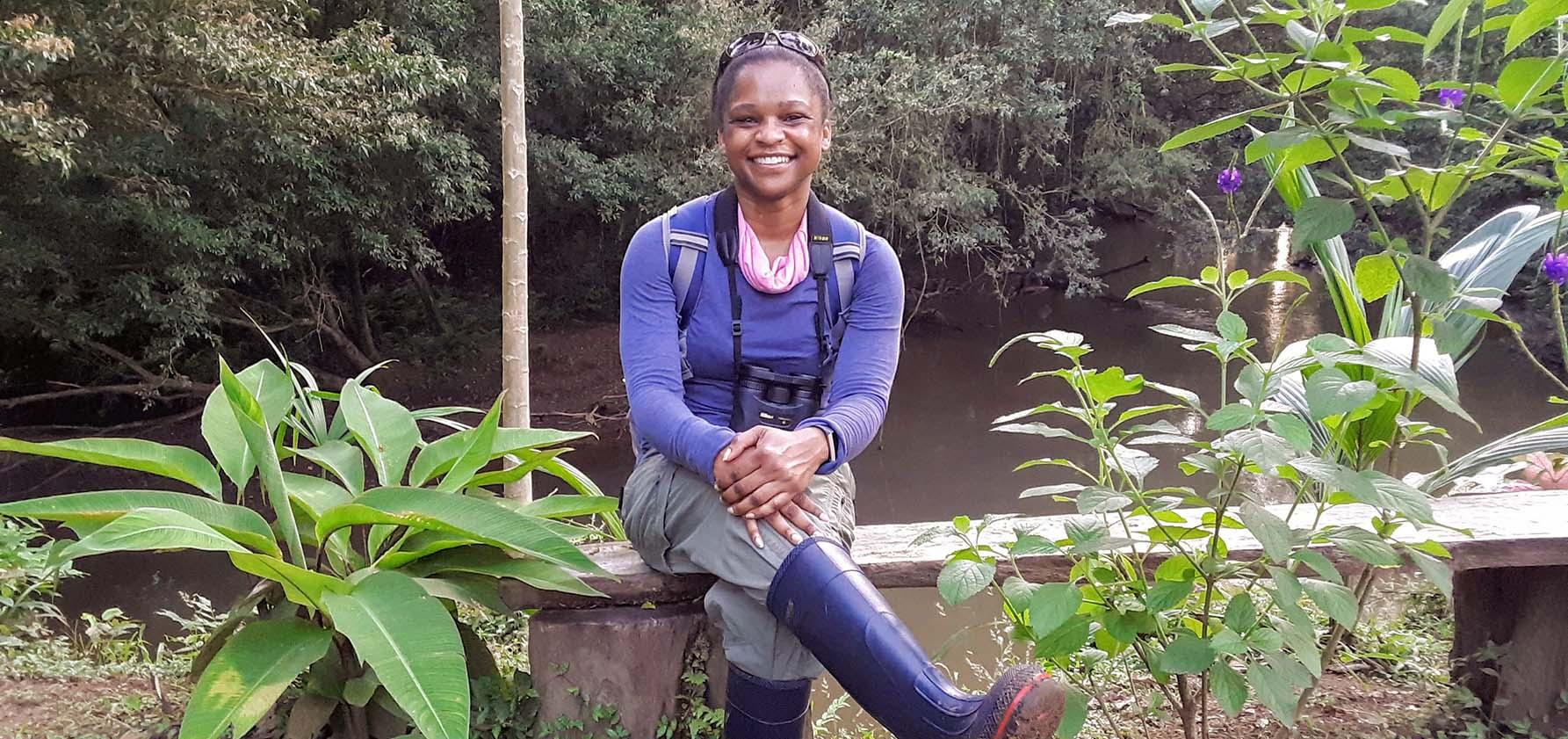 Natasha Woods on a hike in Costa Rica.