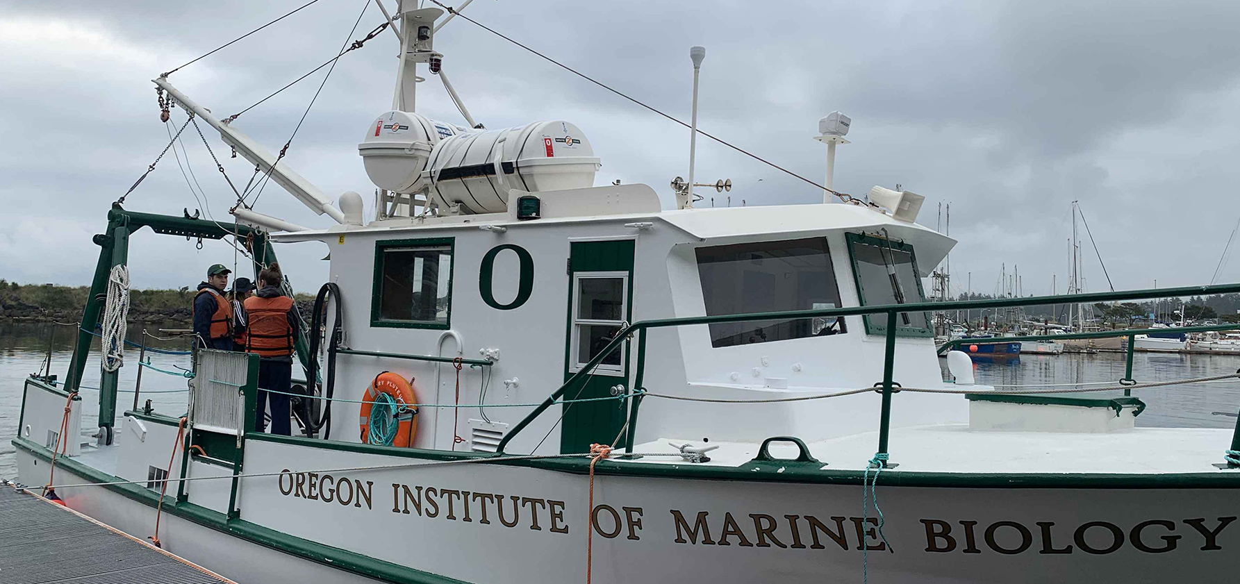 An Oregon Institute of Marine Biology boat