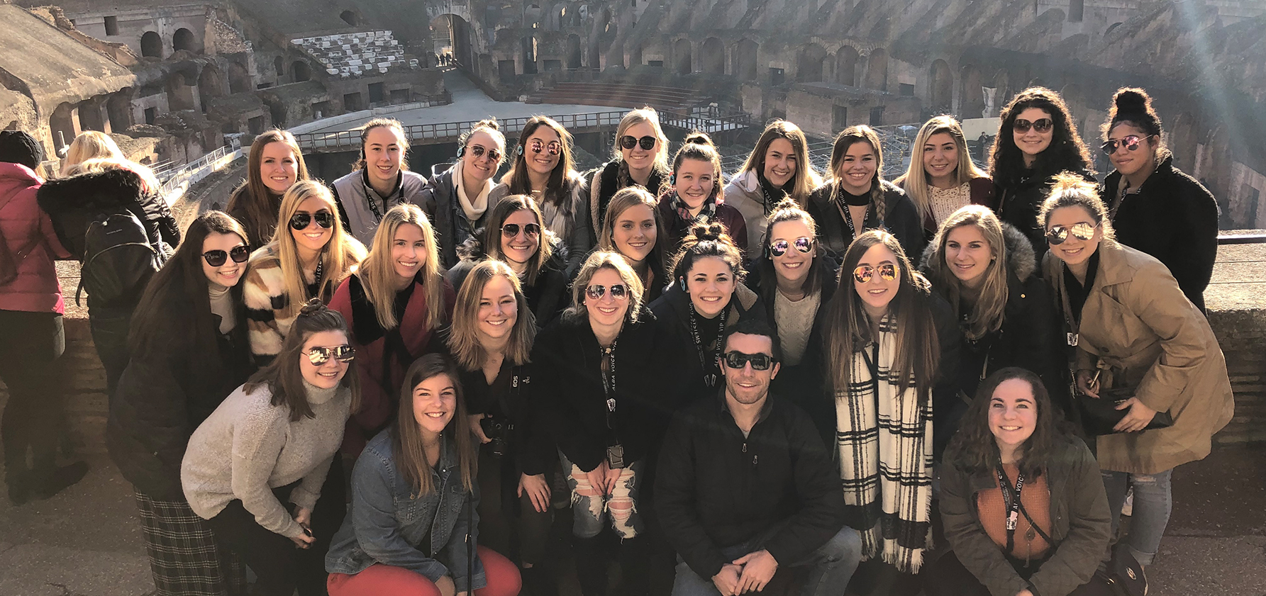 Field Hockey team in the colosseum