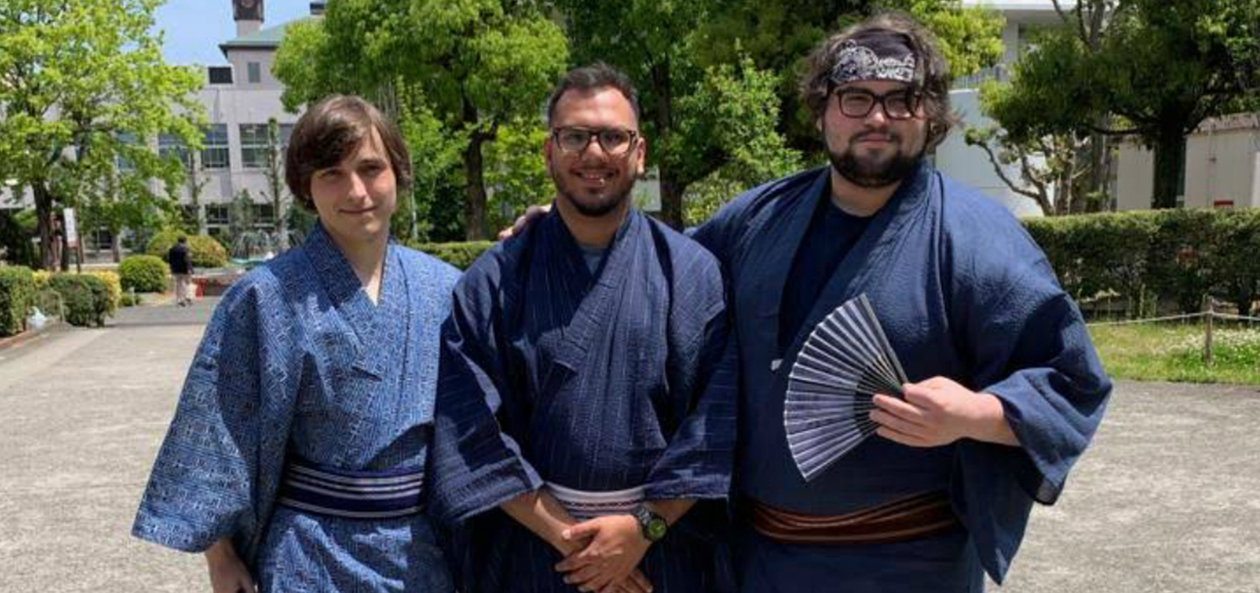 David A. Donio with friends in traditional Japanese dress