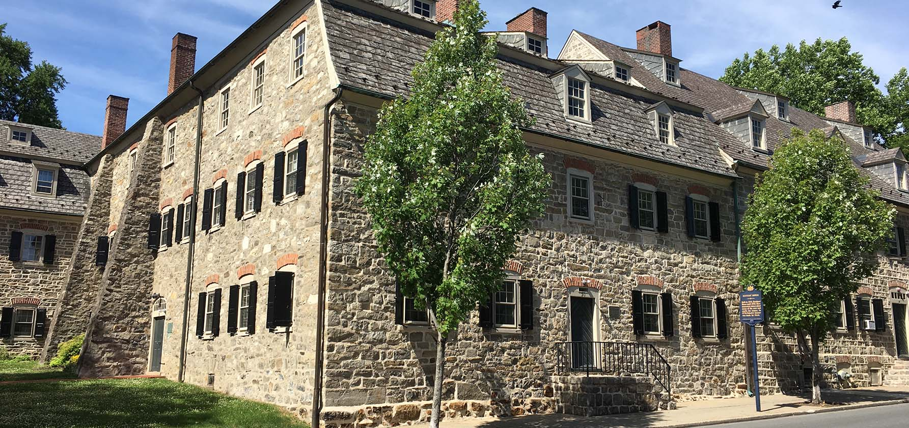 The Journey from Bethlehem to Salem will begin at the Single Sisters' House on Church Street in Bethlehem.